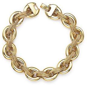 Bloomingdale's 14K Yellow Gold Link Bracelet with Textured Interweave - 100% Exclusive