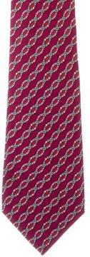 Hermes Silk Buckle Print Tie