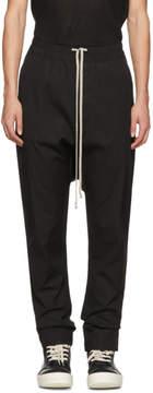Rick Owens Black Drawstring Long Trousers