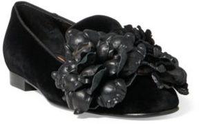 Ralph Lauren Oliviera Velvet Loafer Black 36.5