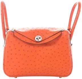 Hermes Lindy Orange Ostrich Handbag