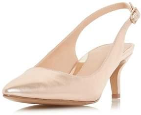 Head Over Heels *Head Over Heels By Dune Rose Gold 'Corrin' Heeled Shoe