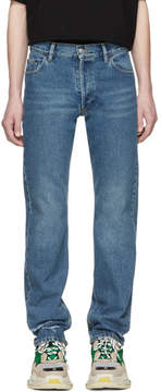 Balenciaga Blue Destroyed Hem 5 Jeans