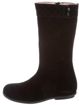 Jacadi Girls' Quilted Suede Boots