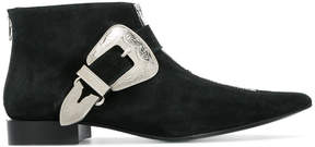 Toga Pulla pointed buckle strap boots