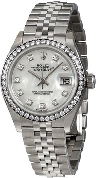Rolex Lady- Datejust Mother Of Pearl Diamond Dial Ladies Jubilee Watch