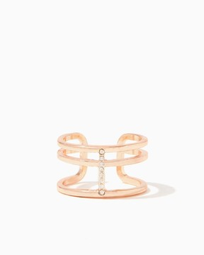 Charming charlie Linear Pavé Band Ring