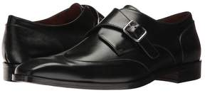 Matteo Massimo Single Monk Wing Tip Men's Slip on Shoes