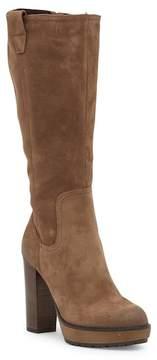 Manas Design Block Heel Tall Suede Boot