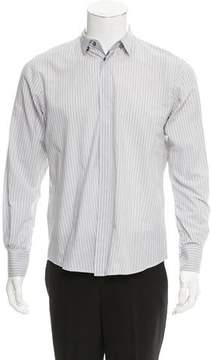 CNC Costume National Striped Button-Up Shirt