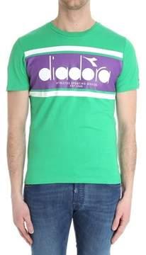 Diadora Men's Green Cotton T-shirt.