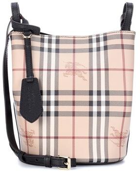 Burberry Lorne plaid leather shoulder bag - BEIGE - STYLE