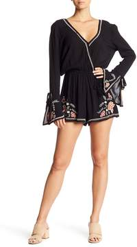Band of Gypsies Floral Embroidered Romper