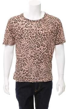 Dries Van Noten Animal Print Crew Neck T-Shirt