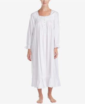Eileen West Embroidered Ballet-Length Nightgown