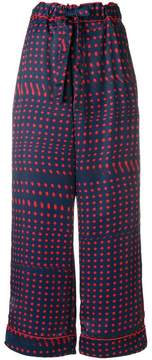 Facetasm polka dots wide-legged trousers