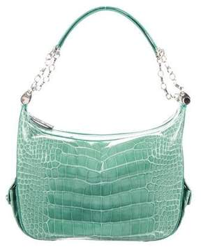 Judith Leiber Crocodile Shoulder Bag