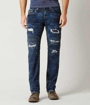 Rock Revival Geo Biker Straight Stretch Jean