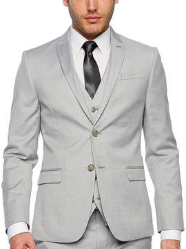 Jf J.Ferrar Light Gray Slim Fit Suit Jacket