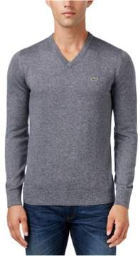 Lacoste Mens V-Neck Pullover Sweater Grey 3XL