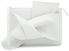 No. 21 Knotted Clutch in White.