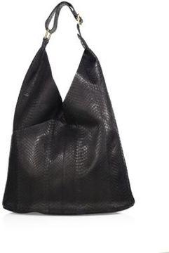 A.L.C. Sadie Snakeskin Embossed Leather Shoulder Bag