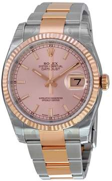 Rolex Oyster Perpetual Datejust 36 Pink Champagne Dial Stainless Steel and 18K Everose Gold Bracelet Automatic Men's Watch