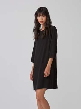 Frank and Oak Gathered Sleeve Dress in Black