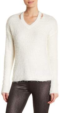 Dex Cutout Eyelash Sweater