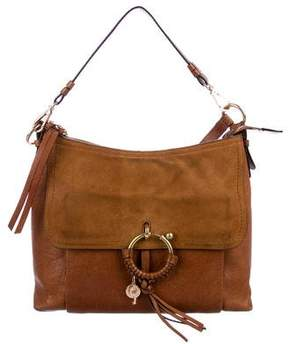 See by Chloe Suede-Trimmed Leather Satchel