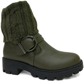 Bamboo Olive Tread Boot
