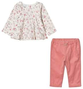Absorba Floral Blouse and Pink Trousers