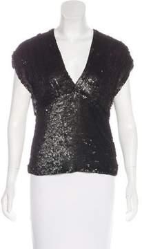 DKNY Silk Sequin Top