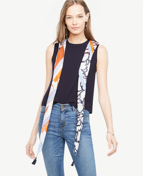 Ann Taylor Colorful Floral Scarf