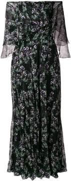 Blumarine floral off the shoulder maxi dress