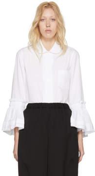 Comme des Garcons White Ruffle Cuffs Shirt