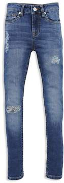 7 For All Mankind Girls' Distressed Skinny Ankle Jeans - Big Kid