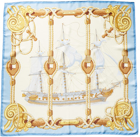 Hermes Tribord By Julia Abadie Silk Scarf