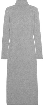 Allude Wool And Cashmere-blend Turtleneck Midi Dress - Gray