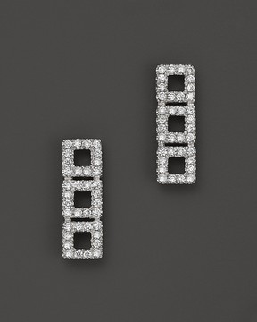 Bloomingdale's Dana Rebecca Designs 14K White Gold Allison Joy Square Earrings with White Diamonds