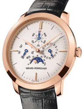 Girard Perregaux 90535-52-131-BK6A 18K Rose Gold Vintage 1966 Perpetual Calendar Moonphase 40mm Watch