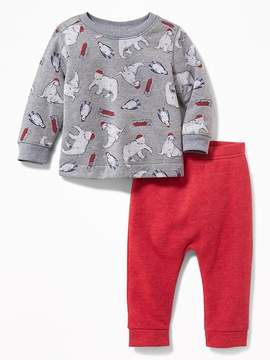 Old Navy Printed Sweatshirt & Joggers Set for Baby