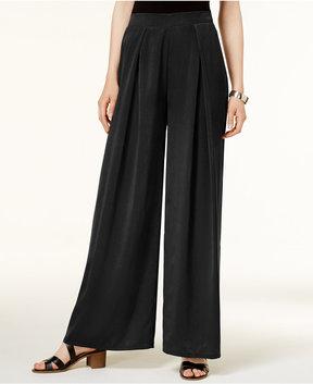 Bar III Pleated Wide-Leg Soft Pants, Created for Macy's