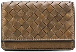 Bottega Veneta fold-over woven wallet