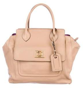 Emilio Pucci Smooth Leather Satchel