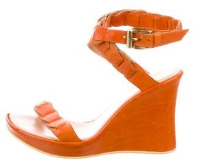 Stephane Kelian Leather Wedge Sandals