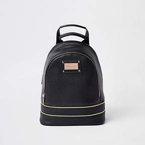 River Island Black zip around backpack