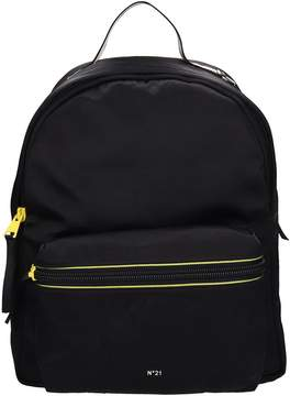 N°21 N.21 Black Fabric Backpack
