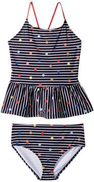 Joules Kids Two-Piece Printed Swimsuit Girl's Swimsuits One Piece