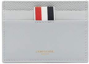 Thom Browne Patent pebble grain leather card holder